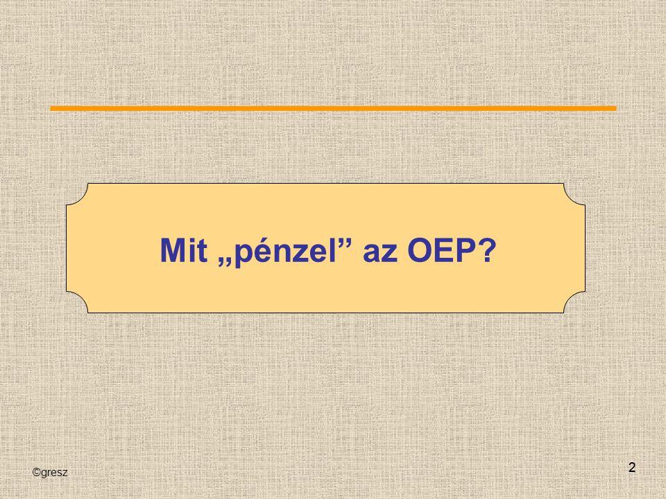 """©gresz 22 Mit """"pénzel"""" az OEP?"""