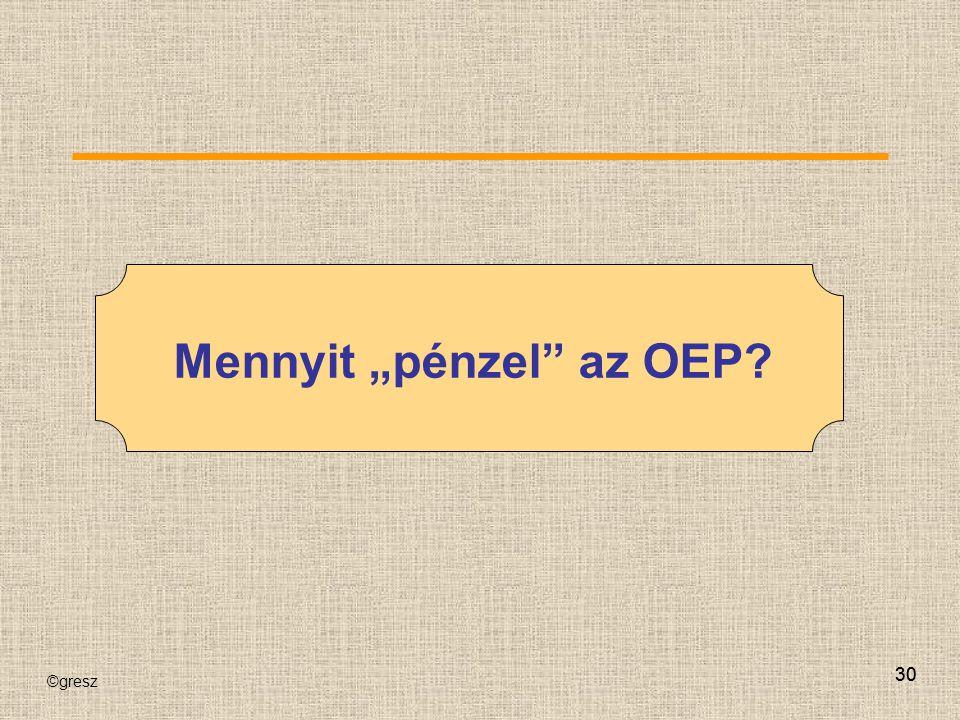 """©gresz 30 Mennyit """"pénzel"""" az OEP?"""