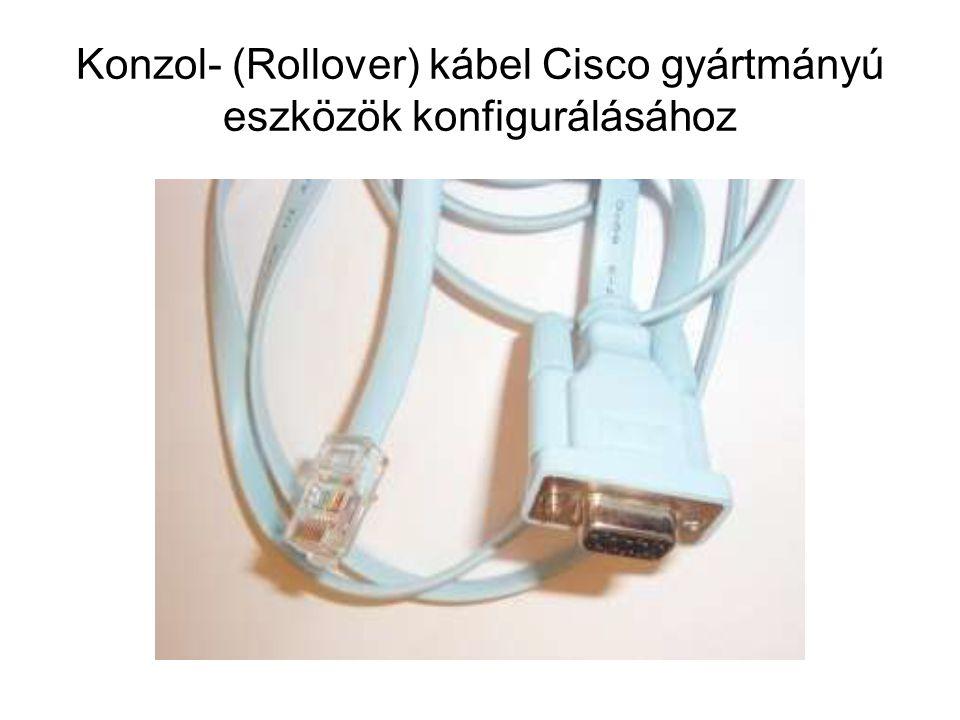 Konzol- (Rollover) kábel Cisco gyártmányú eszközök konfigurálásához