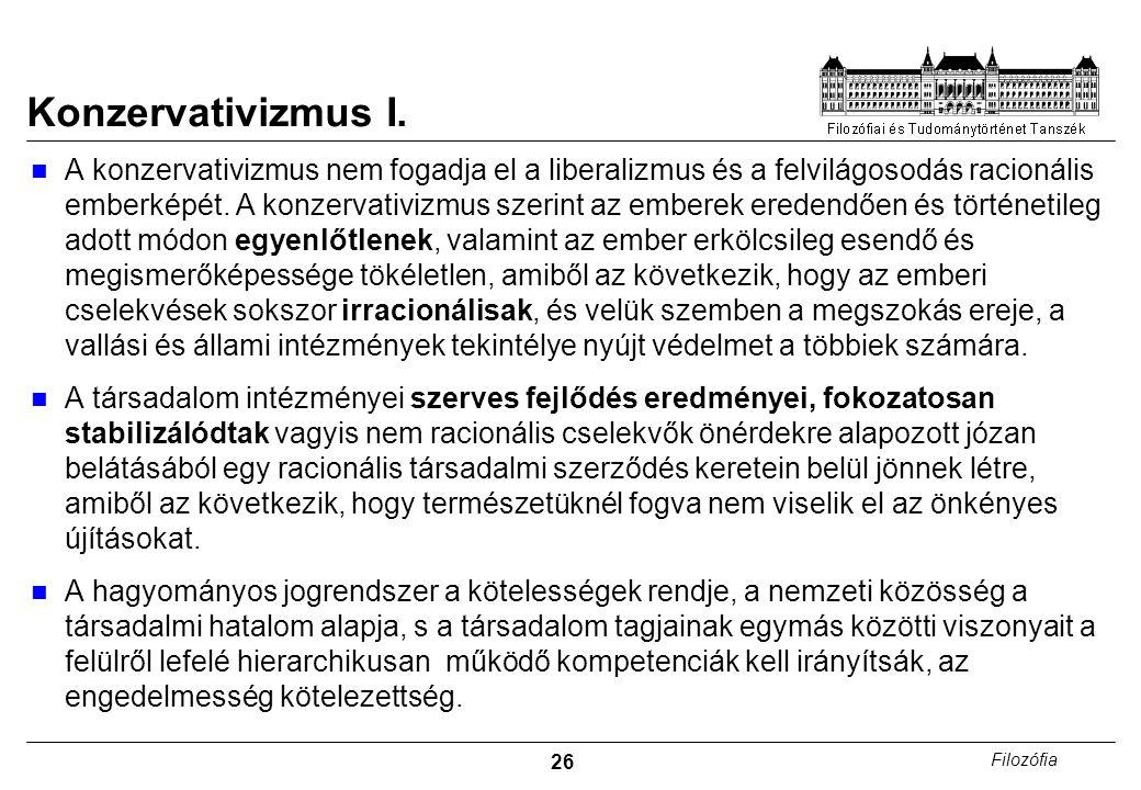 26 Filozófia Konzervativizmus I.