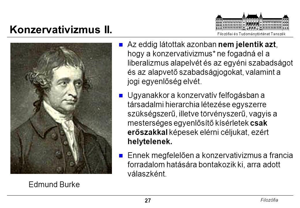27 Filozófia Konzervativizmus II.
