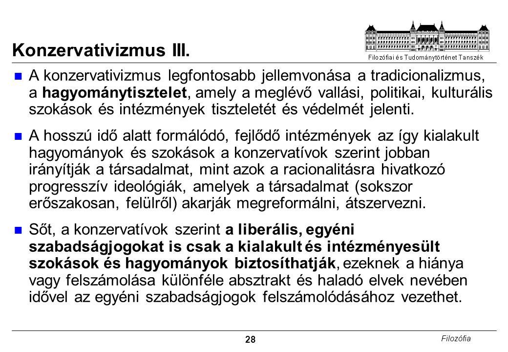 28 Filozófia Konzervativizmus III.