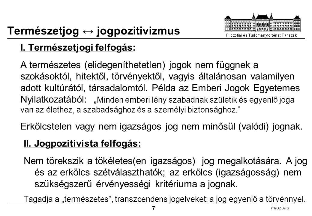 7 Filozófia Természetjog ↔ jogpozitivizmus I.