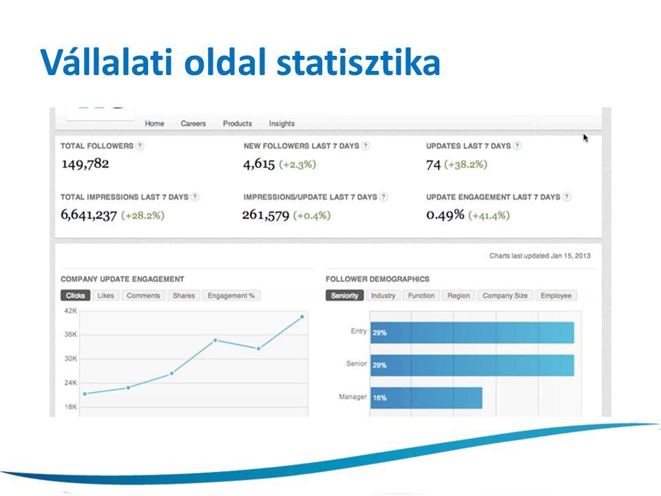 Vállalati oldal statisztika