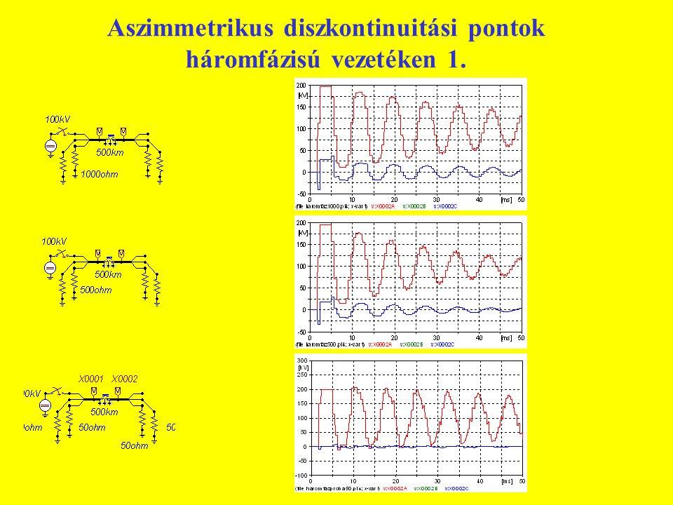 Aszimmetrikus diszkontinuitási pontok háromfázisú vezetéken 1.