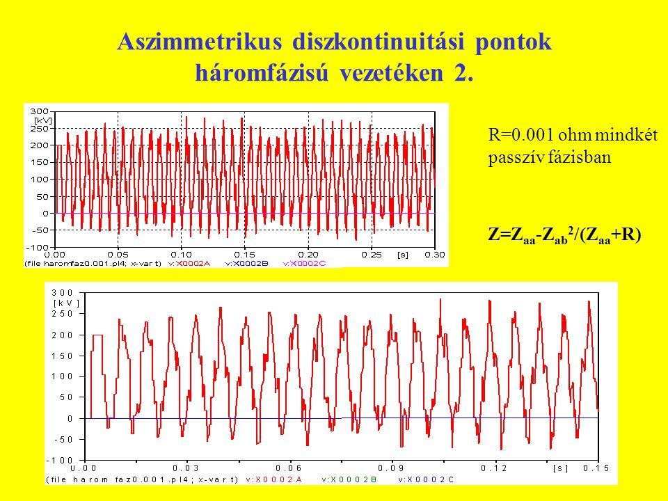 Aszimmetrikus diszkontinuitási pontok háromfázisú vezetéken 2.