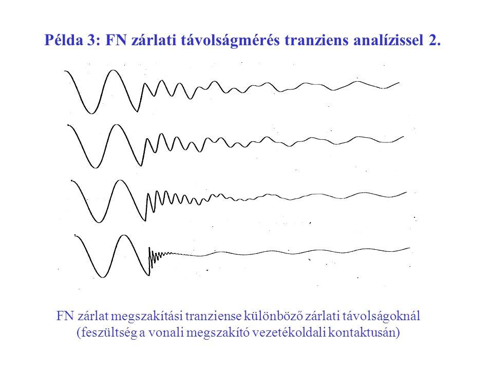 Példa 3: FN zárlati távolságmérés tranziens analízissel 2.