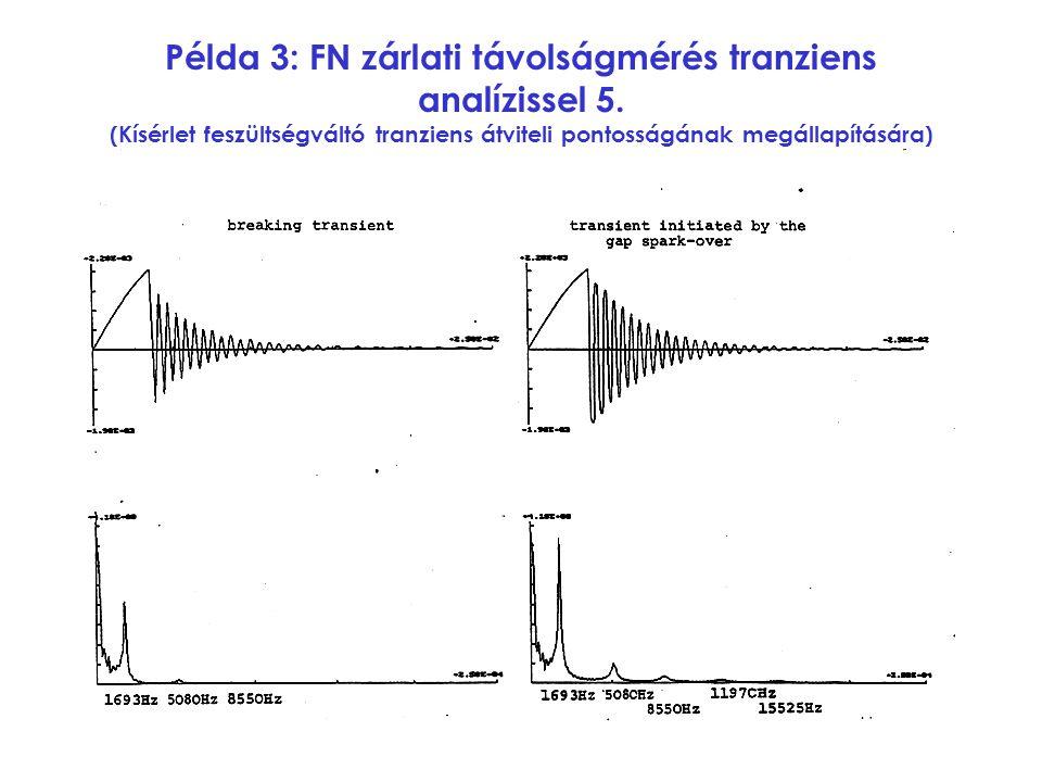 Példa 3: FN zárlati távolságmérés tranziens analízissel 5.