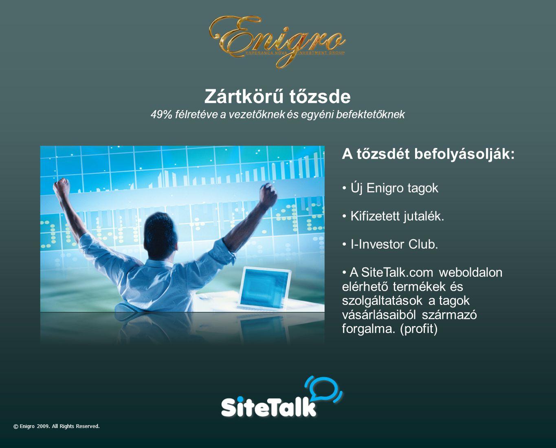 © Enigro 2009. All Rights Reserved. A tőzsdét befolyásolják: Új Enigro tagok Kifizetett jutalék. I-Investor Club. A SiteTalk.com weboldalon elérhető t