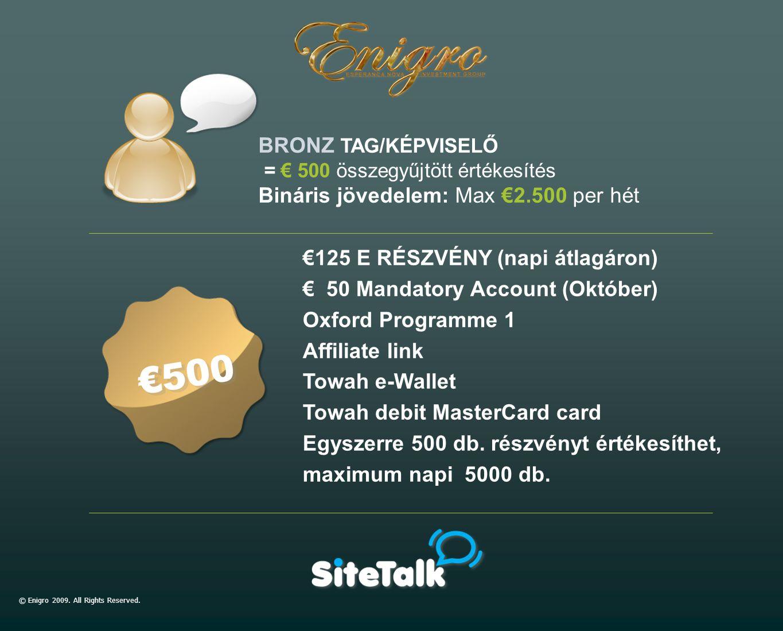 €125 E RÉSZVÉNY (napi átlagáron) € 50 Mandatory Account (Október) Oxford Programme 1 Affiliate link Towah e-Wallet Towah debit MasterCard card Egyszer