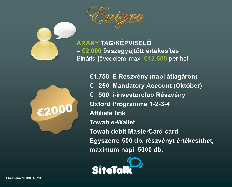 €1.750 E Részvény (napi átlagáron) € 250 Mandatory Account (Október) € 500 i-investorclub Részvény Oxford Programme 1-2-3-4 Affiliate link Towah e-Wal