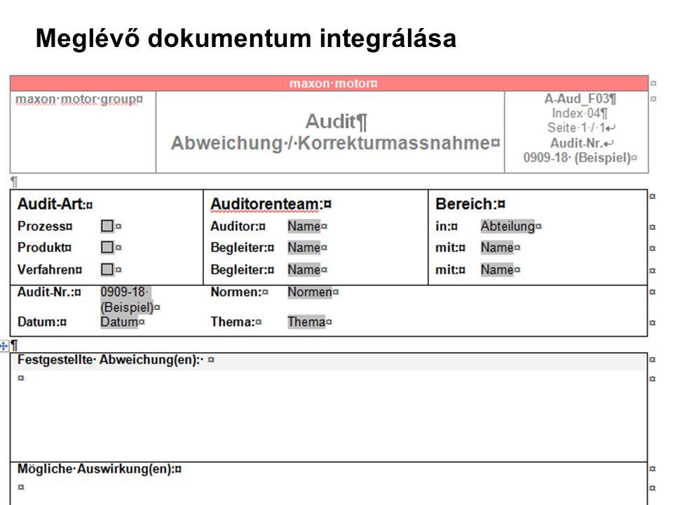 19, © by maxon motor ag, 12.11.2007, KVP System in mmh.ppt mmh, QE Meglévő dokumentum integrálása