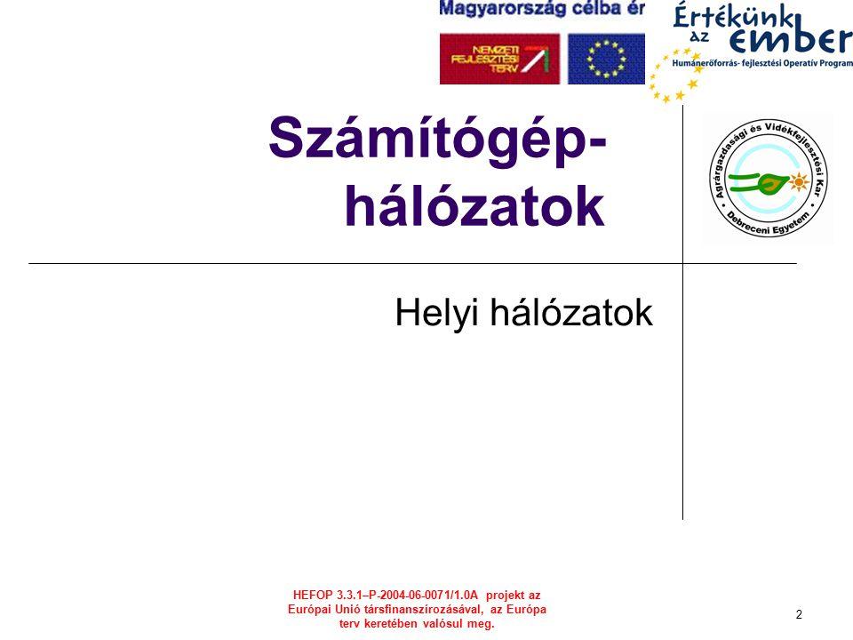 HEFOP 3.3.1–P-2004-06-0071/1.0A projekt az Európai Unió társfinanszírozásával, az Európa terv keretében valósul meg.