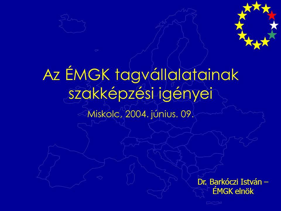 Az ÉMGK tagvállalatainak szakképzési igényei Miskolc, 2004.