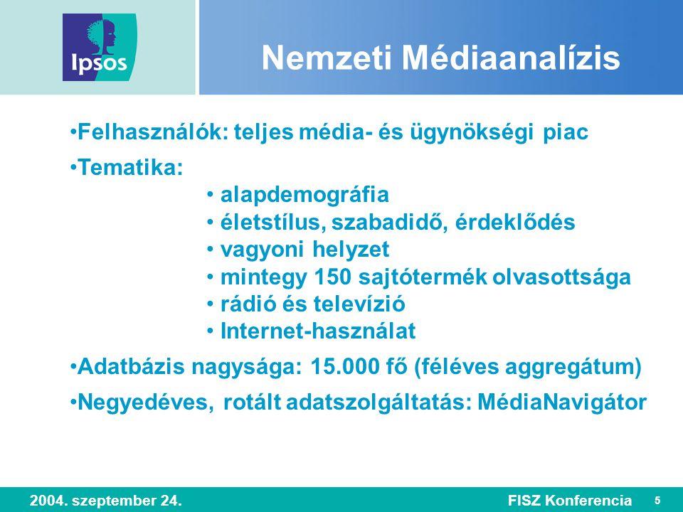 6 2004. szeptember 24.FISZ Konferencia Szocio-demográfia, életmód