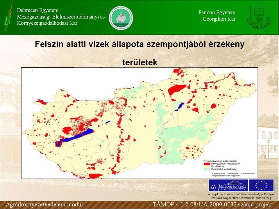 Felszín alatti vizek állapota szempontjából érzékeny területek