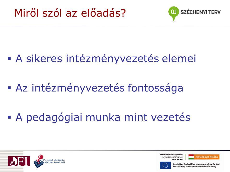 """Helyi szintű oktatásirányítás elemzése Imre Anna kézirat (7.3.5) A központi kezdeményezések (jogszabályok, intézkedések implementációjának hatása: """"a fenntartható változás … elsősorban a sikeres vezetésen múlik, de a tanárokra és az aktív együttműködésre képes szakmai közösségekre is komoly súlyt és felelősséget helyez."""