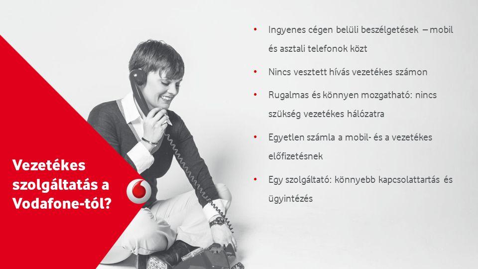 Vezetékes szolgáltatás a Vodafone-tól.