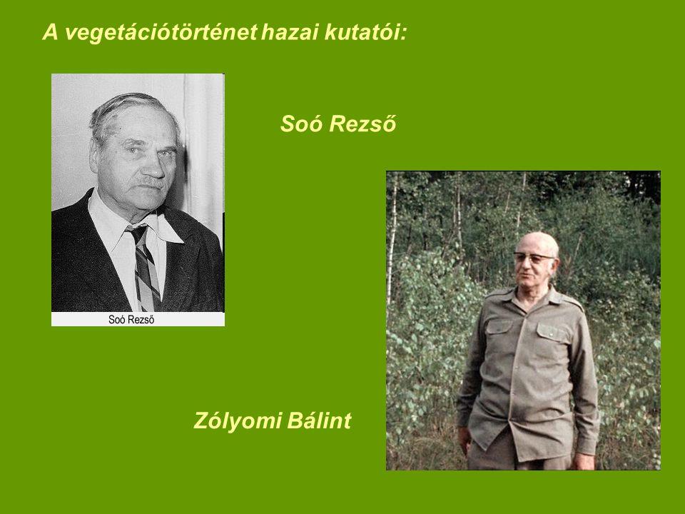 A vegetációtörténet hazai kutatói: Soó Rezső Zólyomi Bálint