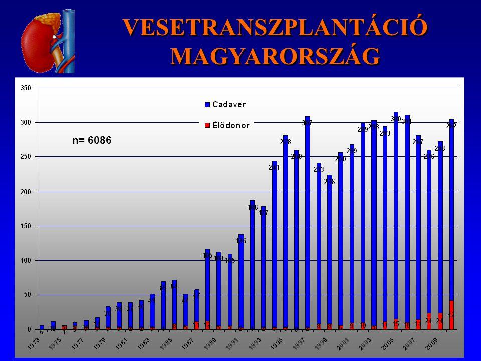 n= 6086 VESETRANSZPLANTÁCIÓ MAGYARORSZÁG