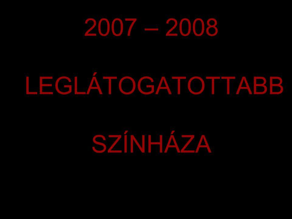 2007 – 2008 LEGLÁTOGATOTTABB SZÍNHÁZA
