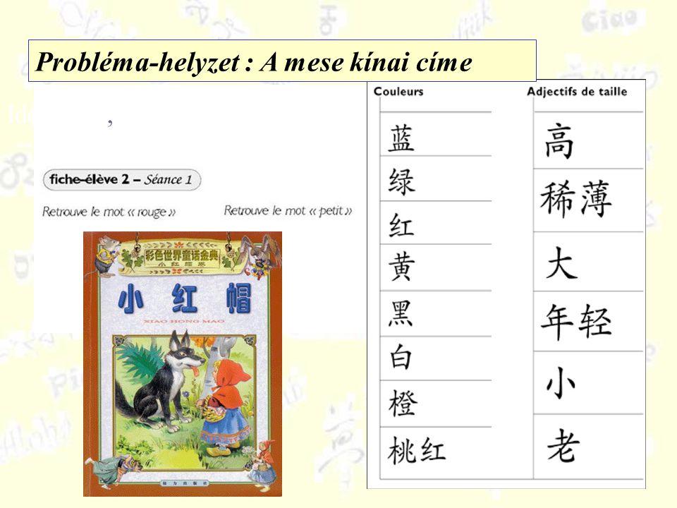 Identifier,,repérer, sélectionner Probléma-helyzet : A mese kínai címe
