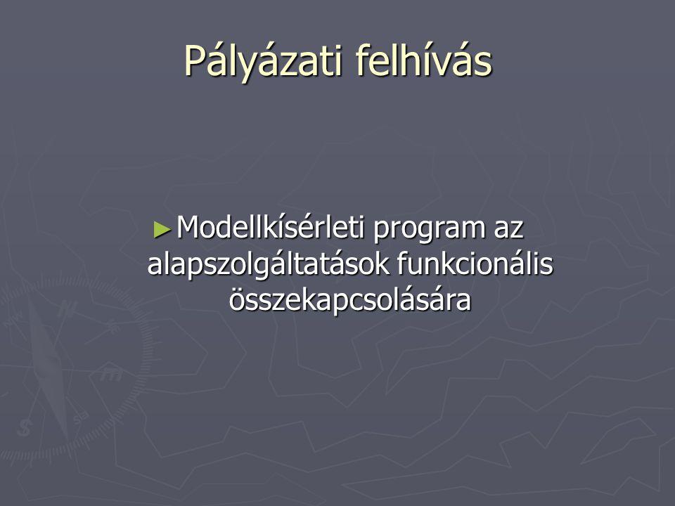 Pályázati felhívás ► Modellkísérleti program az alapszolgáltatások funkcionális összekapcsolására
