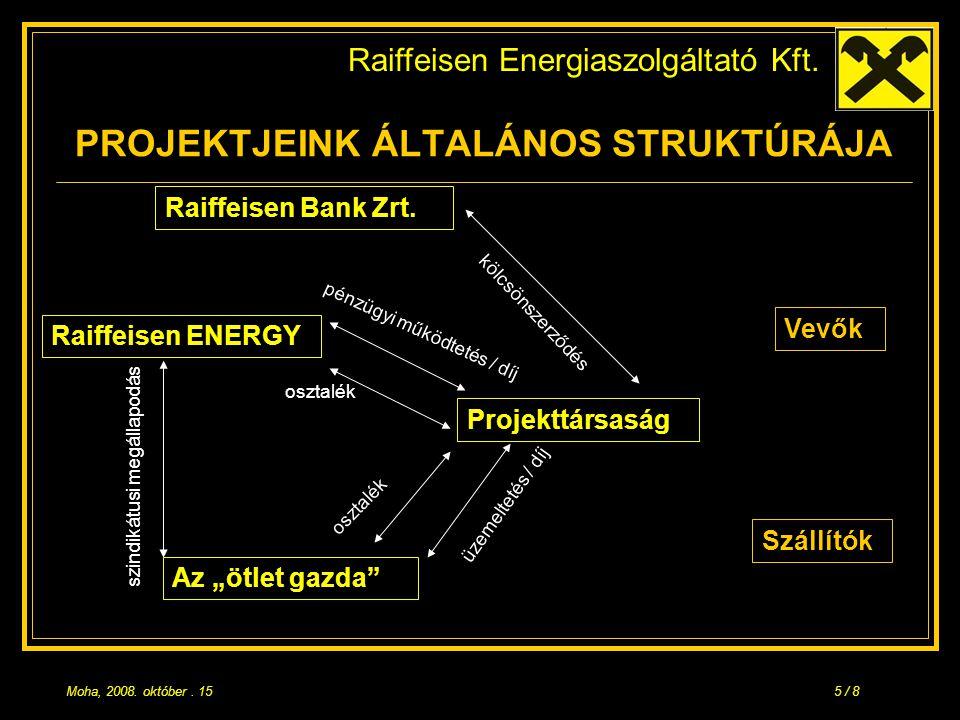 Raiffeisen Energiaszolgáltató Kft. Moha, 2008. október.