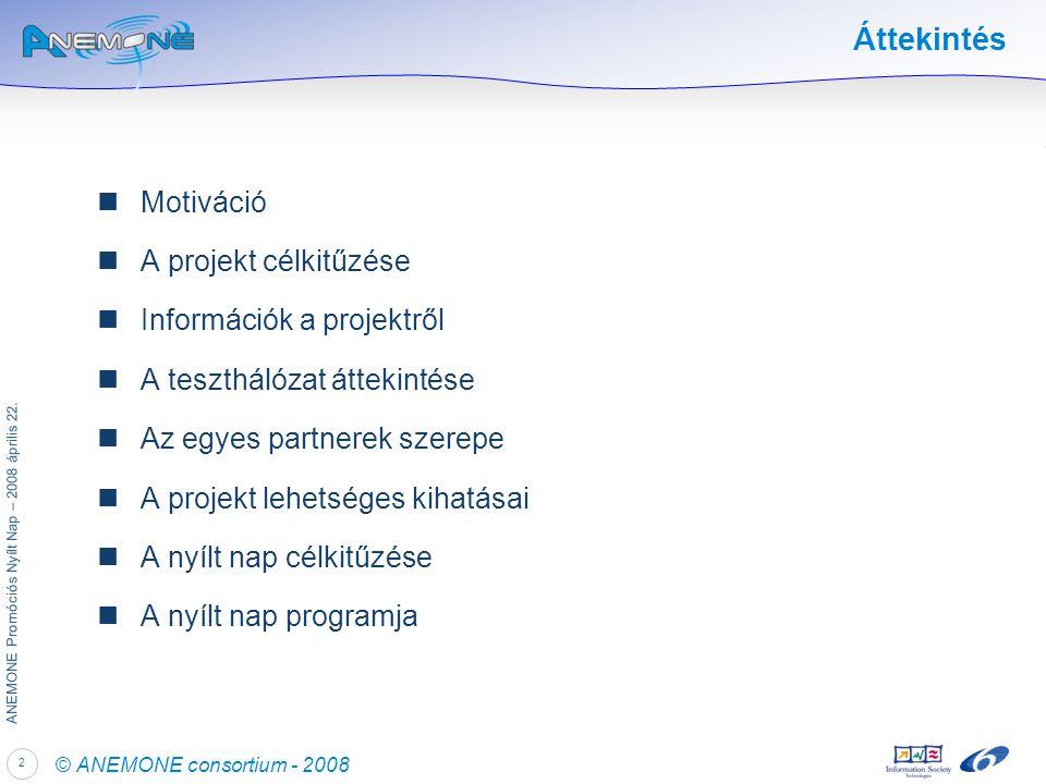 2 ANEMONE Promóciós Nyílt Nap – 2008 április 22.