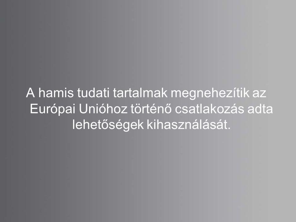 A hamis tudati tartalmak megnehezítik az Európai Unióhoz történő csatlakozás adta lehetőségek kihasználását.