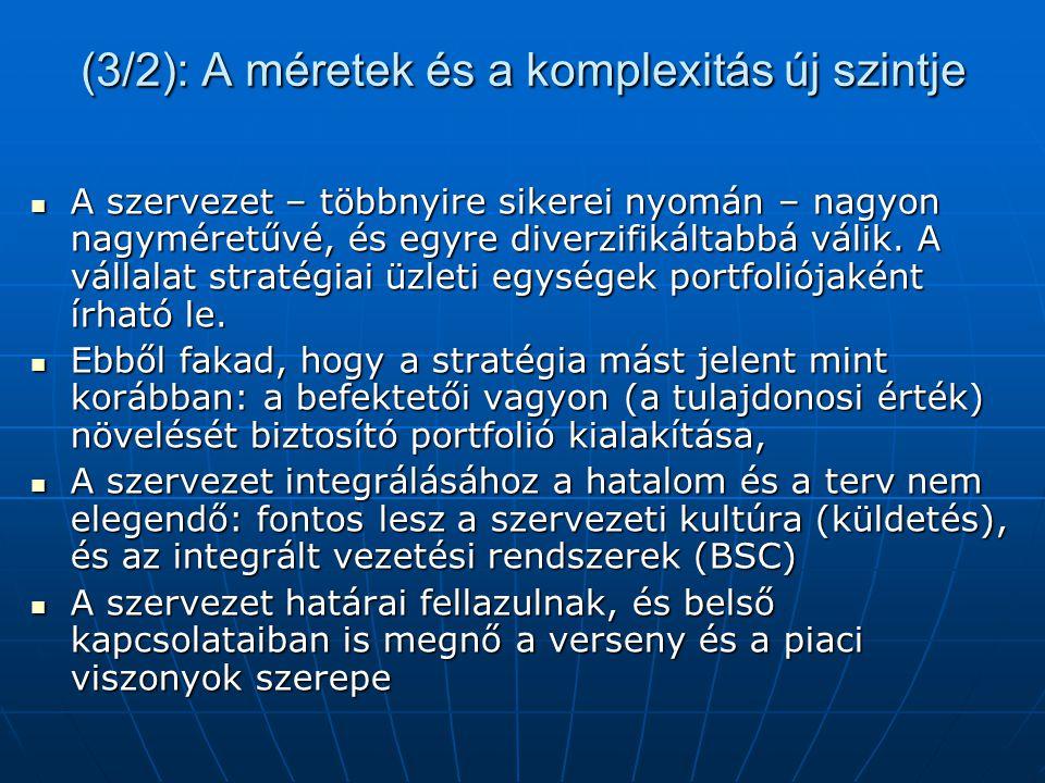 Az átalakítások következményei: szervezeti válságok 1.