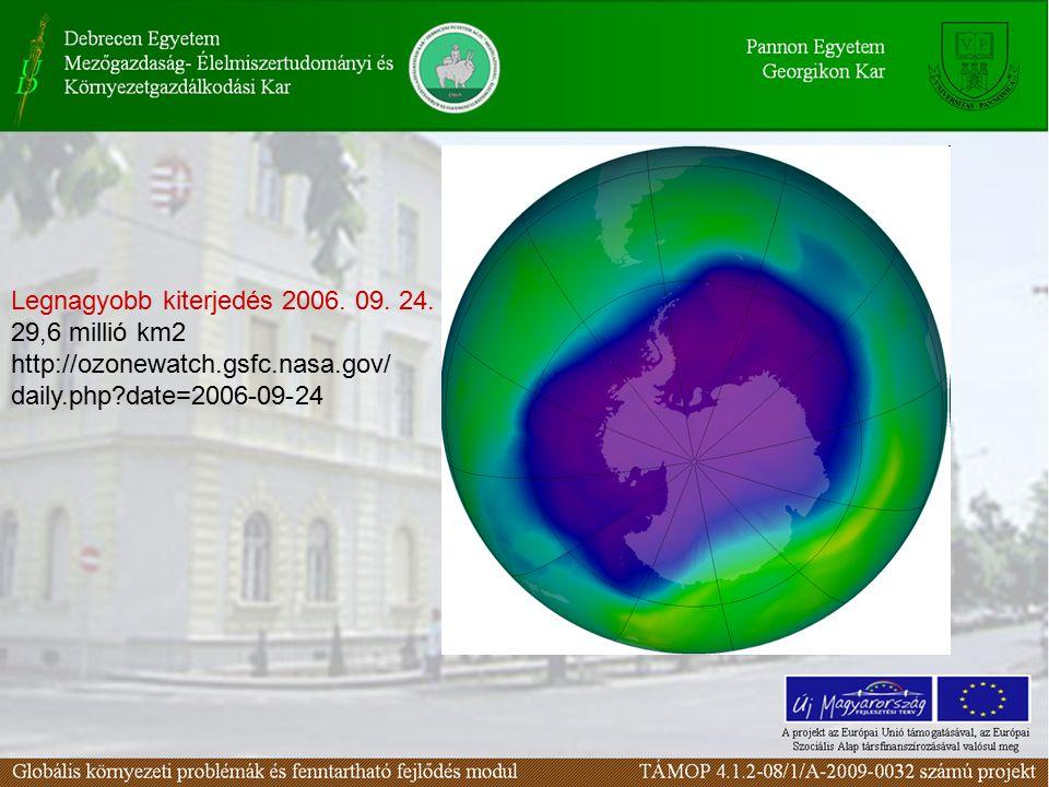 Legnagyobb kiterjedés 2006. 09. 24.
