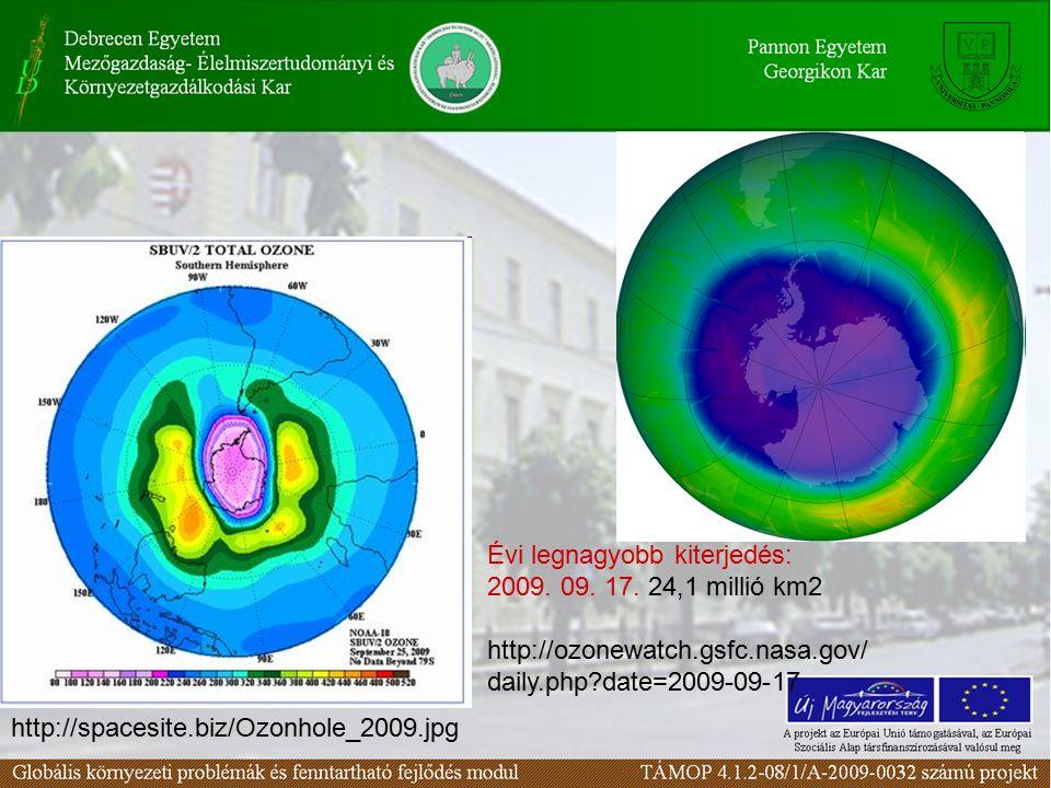 http://spacesite.biz/Ozonhole_2009.jpg Évi legnagyobb kiterjedés: 2009.