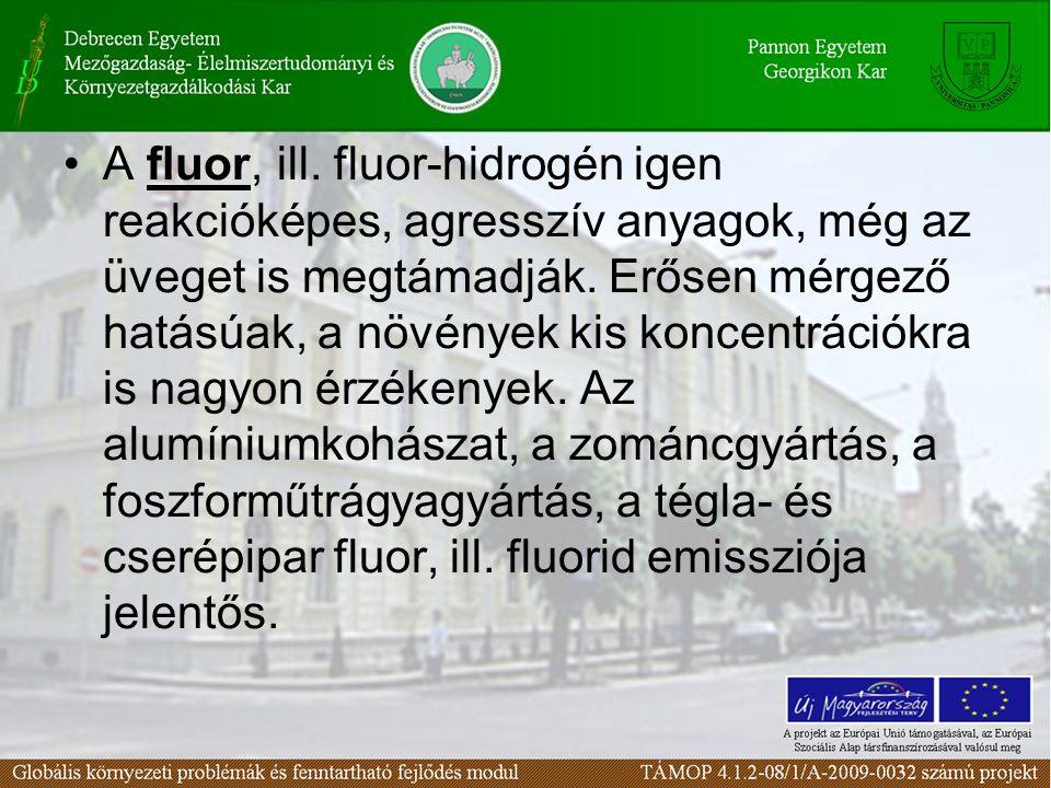 A fluor, ill. fluor-hidrogén igen reakcióképes, agresszív anyagok, még az üveget is megtámadják.