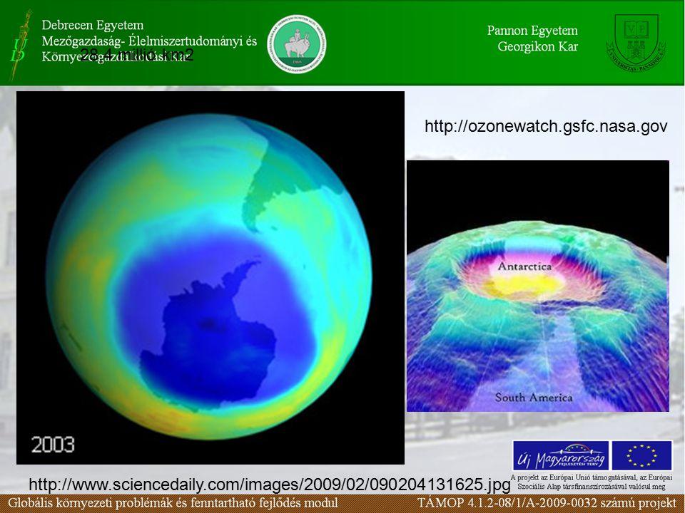28,4 millió km2 http://www.sciencedaily.com/images/2009/02/090204131625.jpg http://ozonewatch.gsfc.nasa.gov