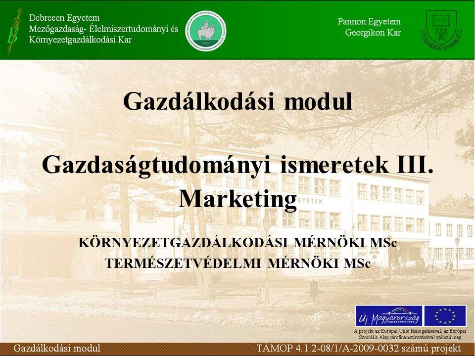 Marketing- információrendszer 112. lecke