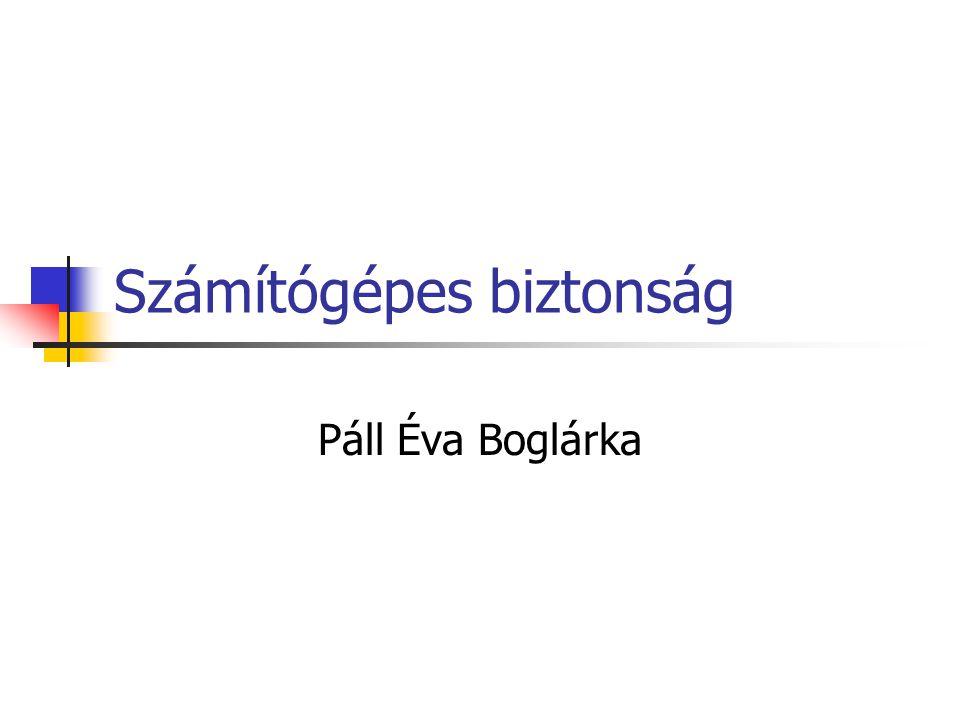 Számítógépes biztonság Páll Éva Boglárka