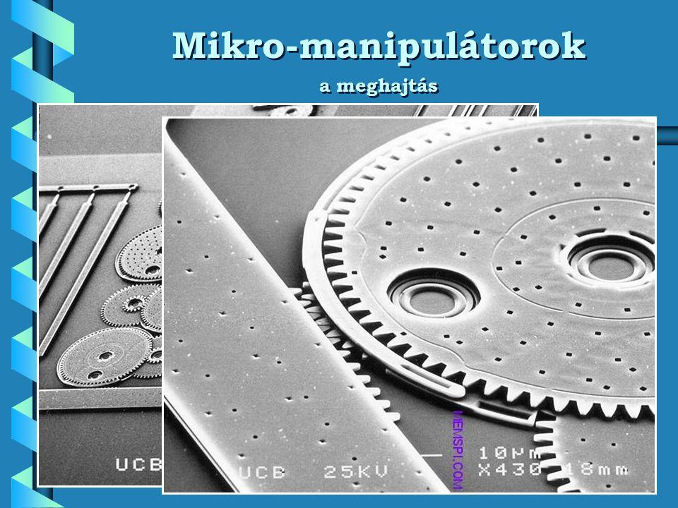 Mikro-manipulátorok a meghajtás