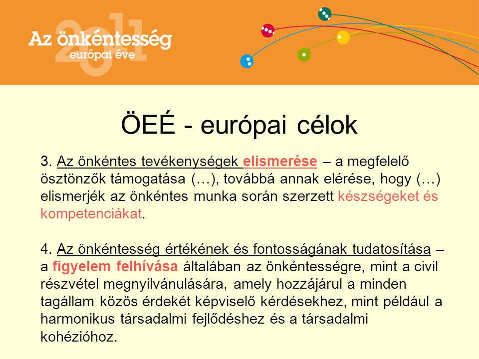 ÖEÉ - európai célok 3.