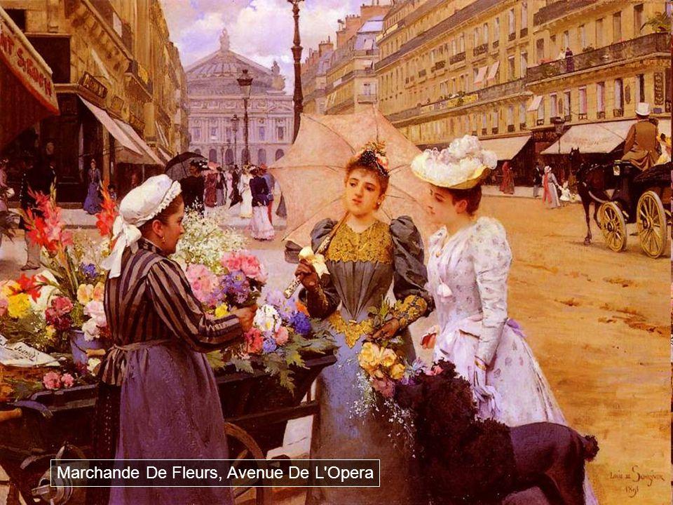 Marchande De Fleurs, Avenue De L Opera