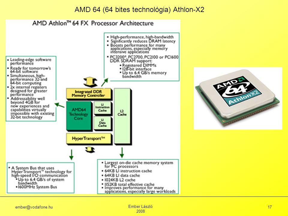 ember@vodafone.hu Ember László 2008 17 AMD 64 (64 bites technológia) Athlon-X2