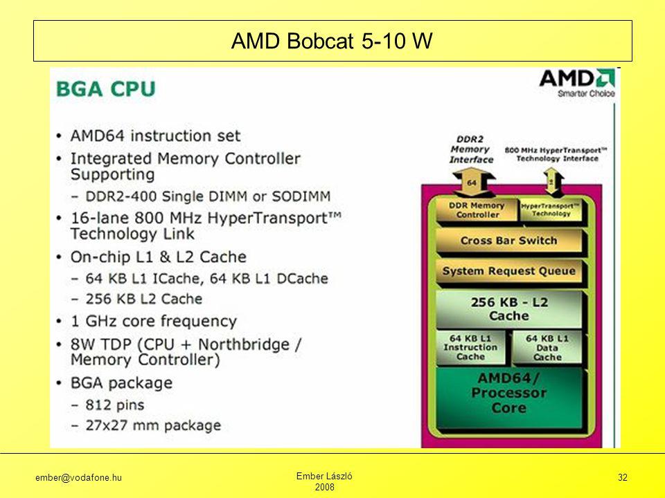ember@vodafone.hu Ember László 2008 32 AMD Bobcat 5-10 W