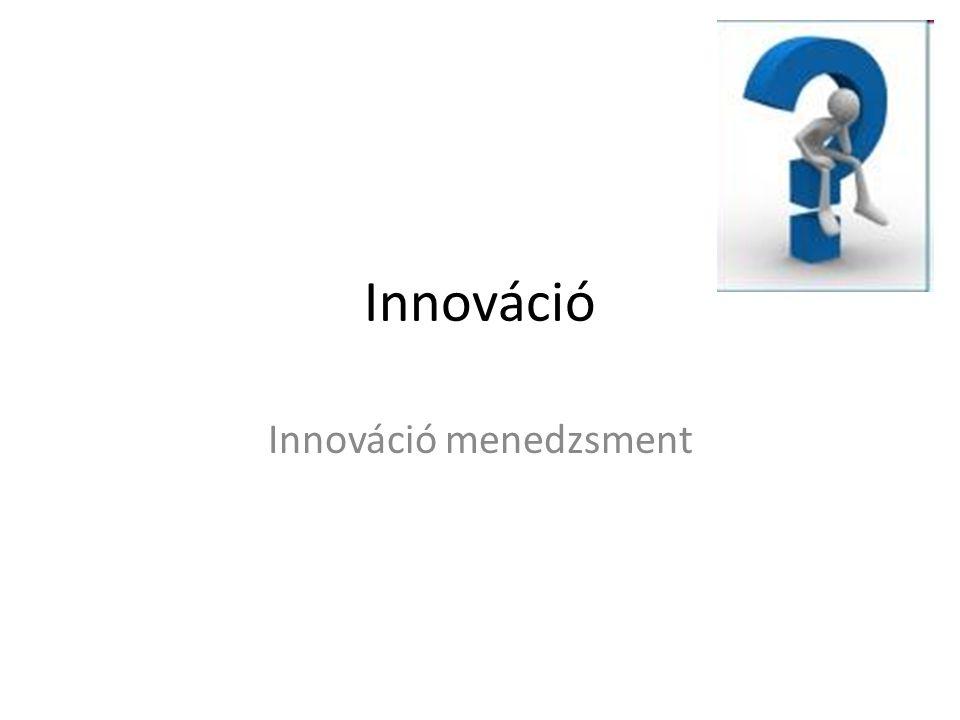 Innováció Innováció menedzsment