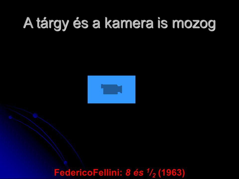 A tárgy és a kamera is mozog FedericoFellini: 8 és 1 / 2 (1963)