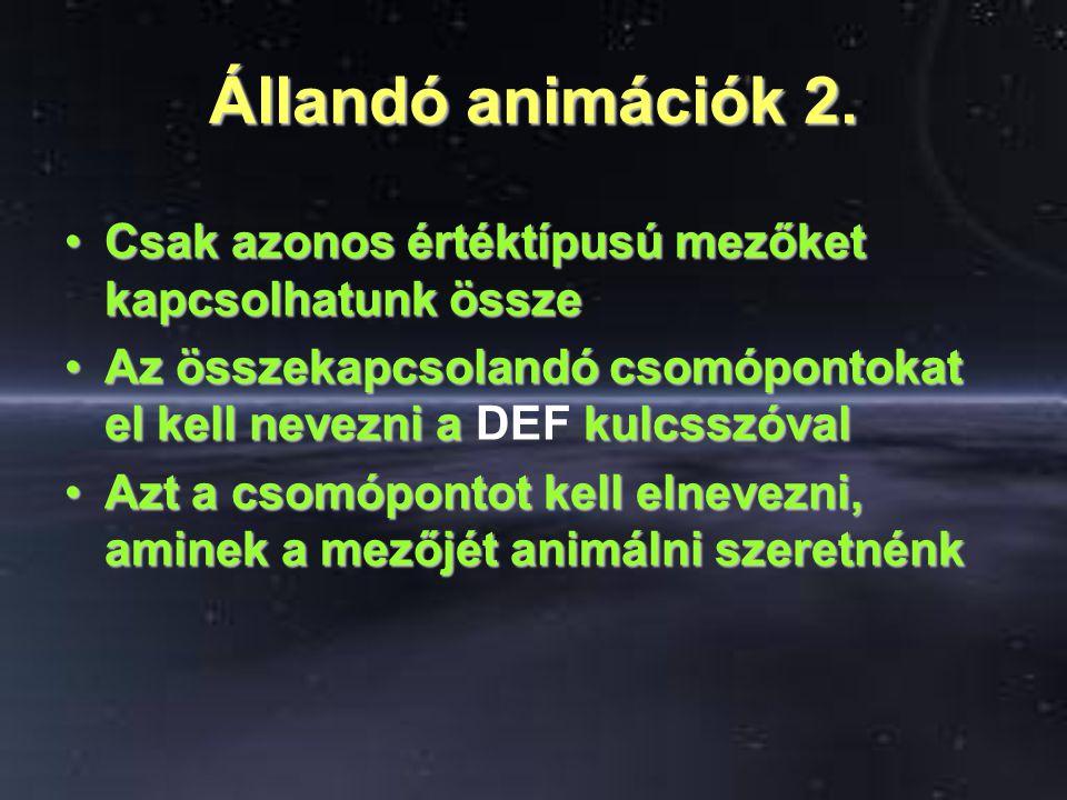 Állandó animációk 2.