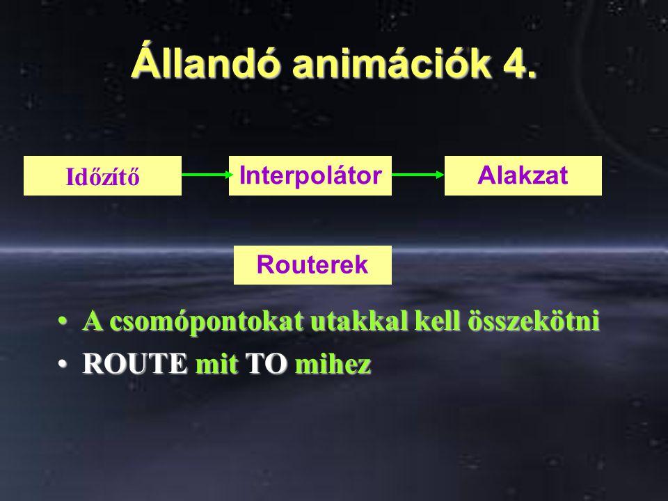 Állandó animációk 4.