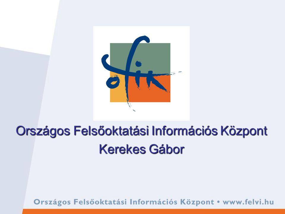 Országos Felsőoktatási Információs Központ Kerekes Gábor