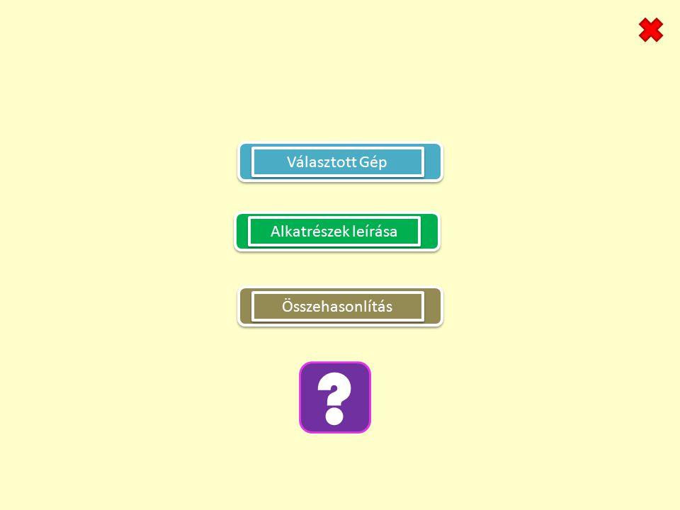 Választott Gép Alkatrészek leírása ? Összehasonlítás