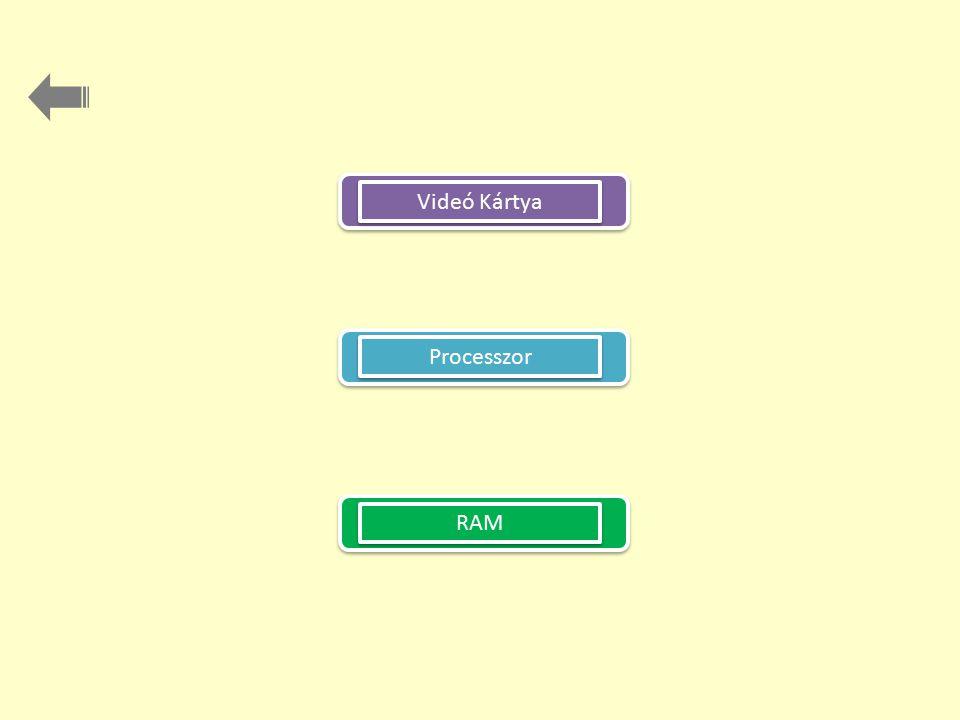 RAM Videó Kártya Processzor