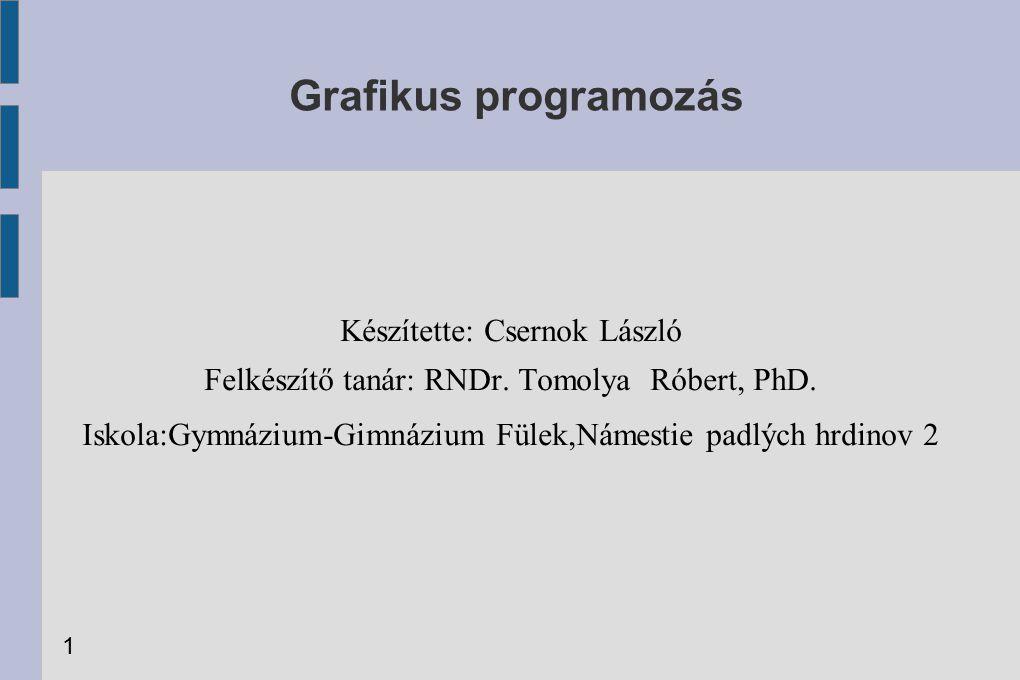 Grafikus programozás Készítette: Csernok László Felkészítő tanár: RNDr.
